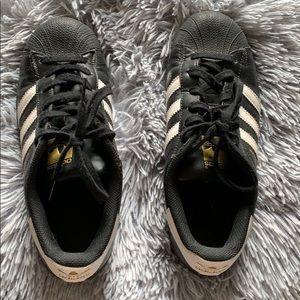 Adidas superstar blk/ wht